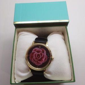 Kate Spade New Magenta Rose Black Watch